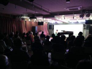 音部屋スクエア で開催された ピアノリサイタル の様子